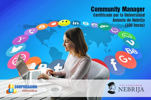 Curso Community Manager acreditado por la Universidad Antonio de Nebrija