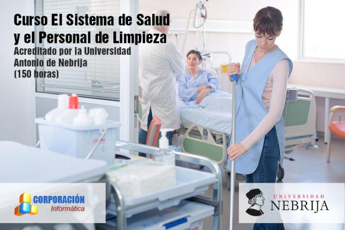 Curso El sistema de salud y el personal de limpieza acreditad por la Universidad Antonio de Nebrija
