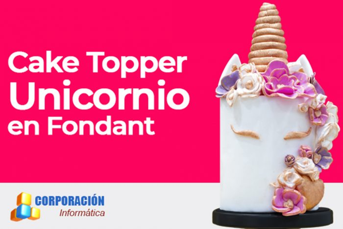 cake topper unicornio en fondant