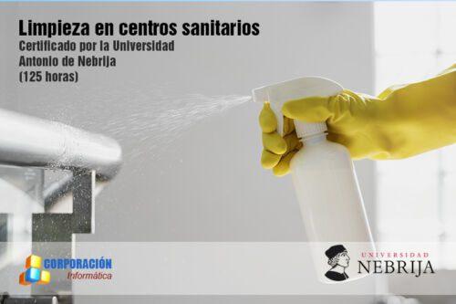 Limpieza en centros sanitarios - Acreditado Nebrija - Corporación Informática