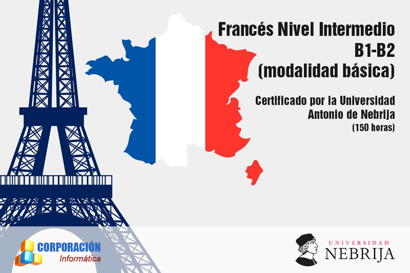 Curso Frances Nivel Intermedio B1-B2 Acreditado Universidad Nebrija